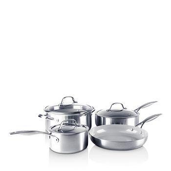 GreenPan - Venice Pro Stainless Steel Ceramic Non-Stick 7-Piece Cookware Set