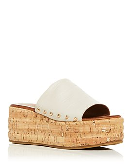 KURT GEIGER LONDON - Women's Monica Croc-Embossed Platform Slide Sandals