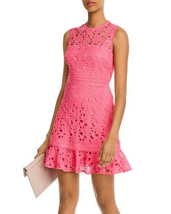 AQUA - Lace Flounce Mini Dress - 100% Exclusive