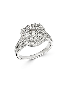 Bloomingdale's - Diamond Halo Cluster Engagement Ring in 14K White Gold, 1.5 ct. t.w. - 100% Exclusive