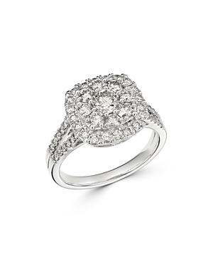 Bloomingdale's Diamond Halo Cluster Engagement Ring in 14K White Gold, 1.5 ct. t.w. - 100% Exclusive