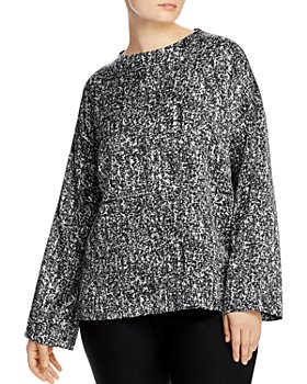 Eileen Fisher Plus - Patterned Boxy Top