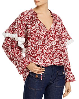 See by Chloé - Cotton Voile Peonies Blouse