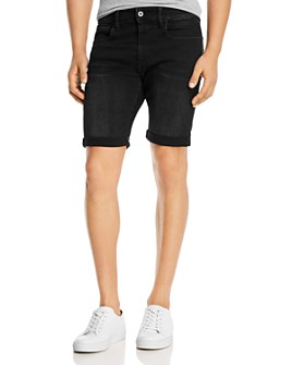 G-STAR RAW - 3301 Denim Slim Fit Shorts in Worn In Meteor
