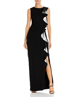 PAULE KA - Ruffled Satin Gown