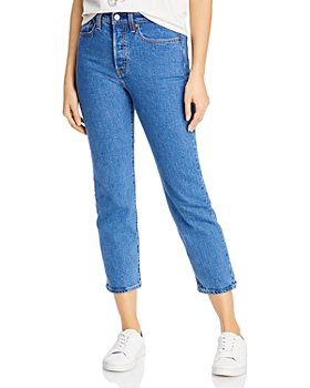 Levi's - Wedgie Straight Cropped Jeans in Jive Stone