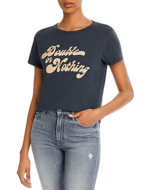 Mother The Little Goodie Goodie Cotton Graphic Tee-Women