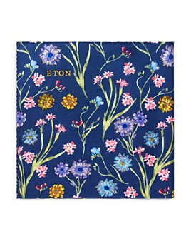 Eton - Flower & Stems Silk Pocket Square