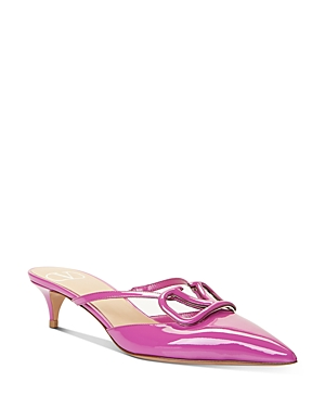 Valentino Garavani Women\\\'s Pointed-Toe Kitten-Heel Mules