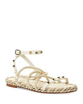 Valentino Garavani - Women's Rockstud Strappy Espadrille Sandals