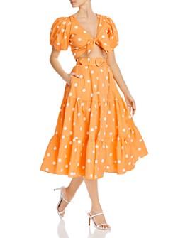 For Love & Lemons - Auburn Dot Crop Top & Midi Skirt