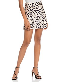 AQUA - Leopard Print Mini Skirt - 100% Exclusive