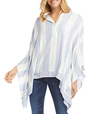 Karen Kane Striped Scarf Top