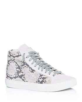 P448 - Women's Star2.0 Silver Python-Embossed High-Top Sneakers
