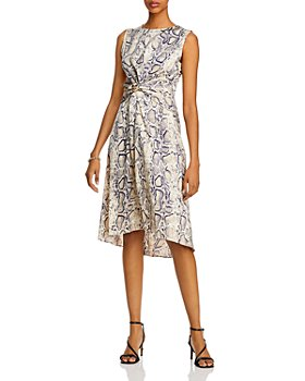 AQUA - Twisted Snake Print Dress - 100% Exclusive