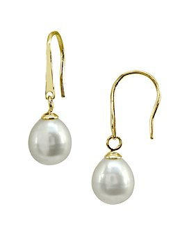 AQUA - Cultured Freshwater Pearl Drop Earrings - 100% Exclusive