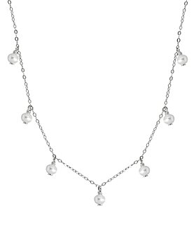 "AQUA - Bead Cultured Freshwater Pearl Collar Necklace, 15.5""-17.5"" - 100% Exclusive"
