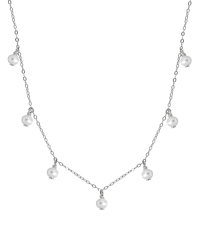 """AQUA - Bead Cultured Freshwater Pearl Collar Necklace, 15.5""""-17.5"""" - 100% Exclusive"""