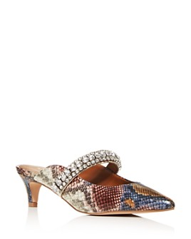 KURT GEIGER LONDON - Women's Dutchess Snake-Print Crystal Mules