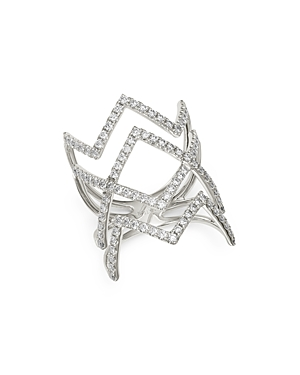 Bloomingdale's Diamond Pave Zigzag Statement Ring in 14K White Gold, 1.0 ct. t.w. - 100% Exclusive