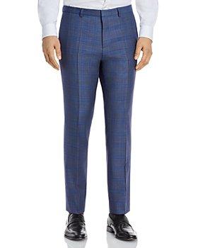 HUGO - Hets Sharkskin Plaid Extra Slim Fit Suit Pants