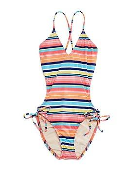 Splendid - Girls' Juicy Fruit Striped One-Piece Swimsuit - Big Kid