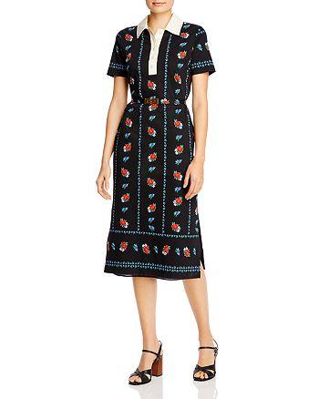 Tory Burch - Floral-Print Polo Midi Dress