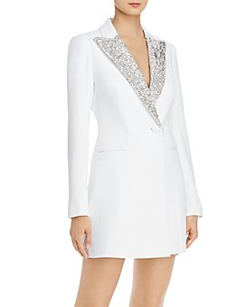 Jay Godfrey - Ace Sequin-Trimmed Tuxedo Wrap Dress