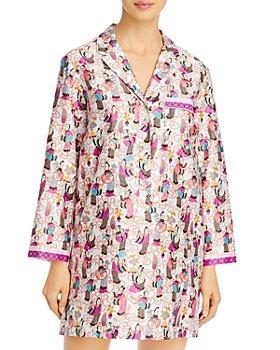 Natori - Tea Party Printed Cotton Sleep Shirt