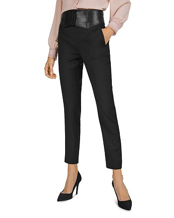 The Kooples - Leather-Waist Trousers