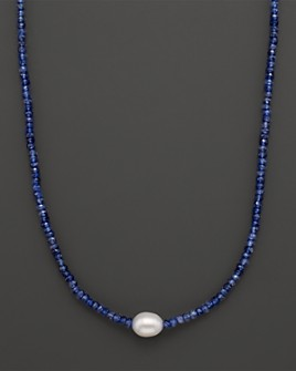 Bloomingdale's - Amethyst Beaded Necklace with Freshwater Pearl - 100% Exclusive