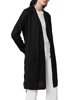 ALLSAINTS - Lace-Up Long Wool Cardigan