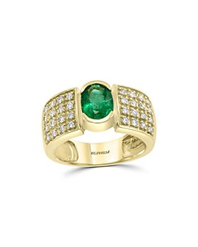 Bloomingdale's - Emerald & Diamond Statement Ring in 14K Yellow Gold - 100% Exclusive