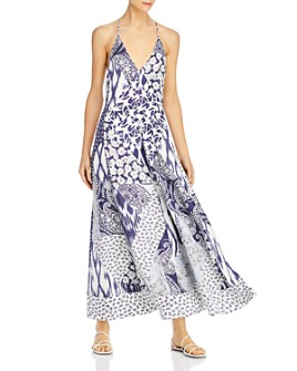 Rebecca Taylor - Mosaic Plunge Maxi Dress
