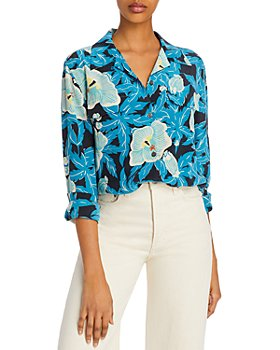 Equipment - Amaia Long-Sleeve Silk Button-Up Shirt