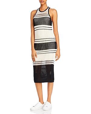 Frame Striped Pointelle Dress-Women
