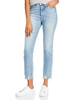 MOTHER - The Button Fly Dazzler Ankle Jeans in I Confess