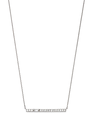 Bloomingdale's Diamond Bar Necklace in 14k White Gold, 17-19 - 100% Exclusive