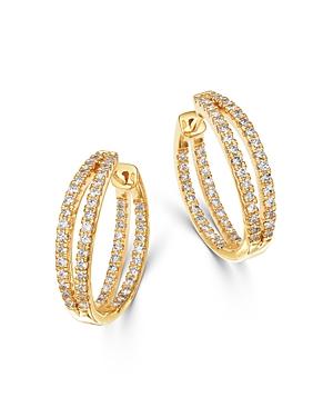 Bloomingdale's Diamond Double Split Row Inside Out Hoop Earrings in 14K Yellow Gold - 100% Exclusive