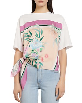 Sandro - Floral Scarf T-Shirt
