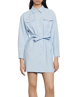 Sandro - Estel Mini Belted Shirt Dress