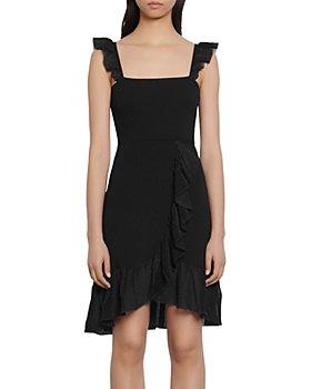 Sandro - Laurana Ruffled Knit Dress