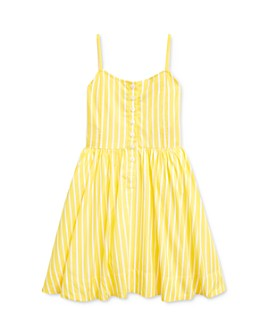 Ralph Lauren - Girls' Cotton Striped Poplin Dress - Little Kid