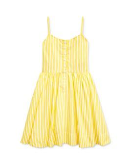 Ralph Lauren - Girls' Cotton Striped Poplin Dress - Little Kid