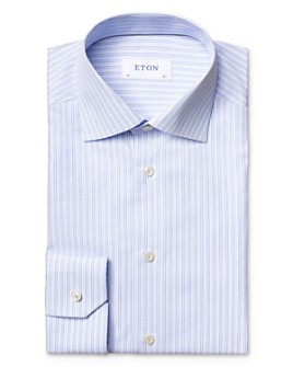 Eton - Cotton Vertical Stripe Regular Fit Dress Shirt