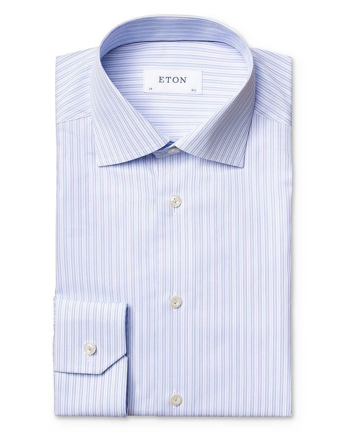 Eton - Cotton Vertical Stripe Regular Fit Dress Shirt