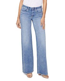 NYDJ - Teresa Frayed Wide-Leg Jeans in Coheed