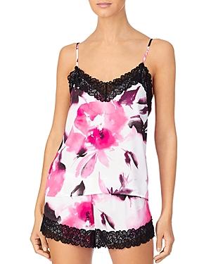 Dkny Lace Trim Cami & Shorts Pajama Set