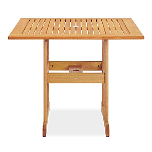 Modway Hatteras 36 Square Outdoor Patio Eucalyptus Wood Dining Table