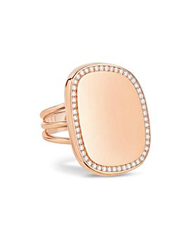 Roberto Coin - 18K Rose Gold Diamond Halo Statement Ring
